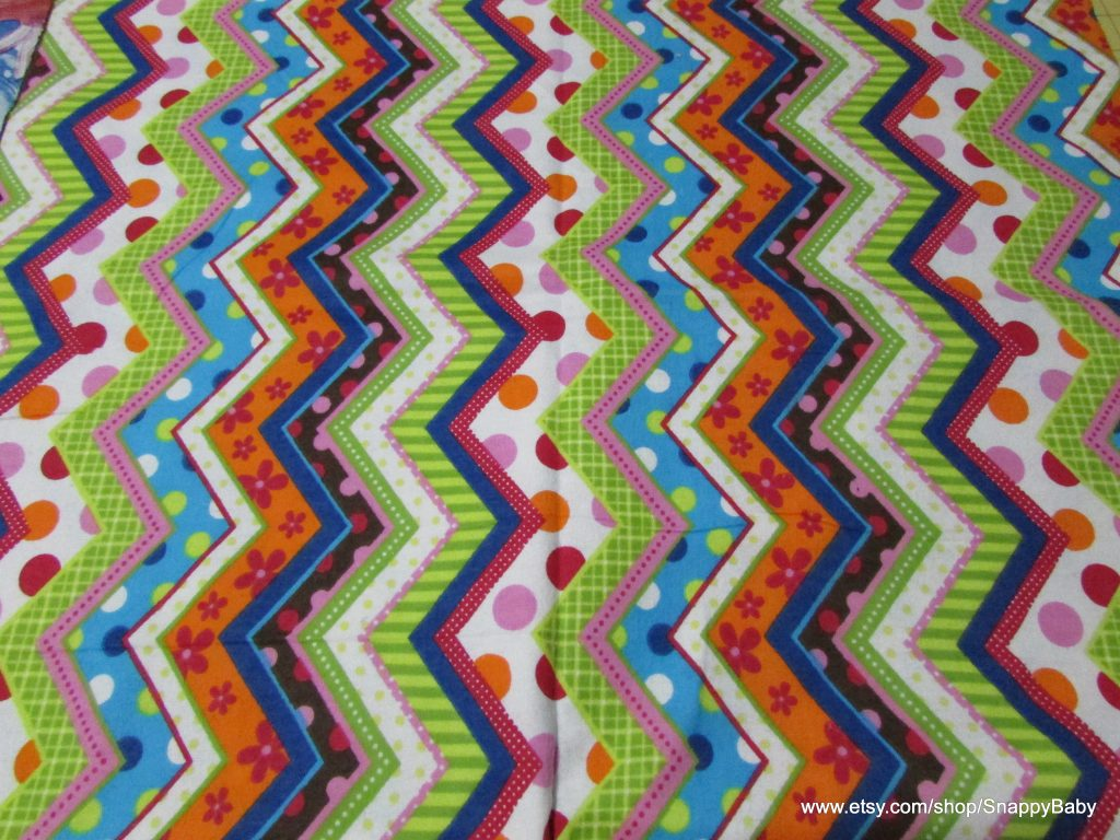 Patterned Zig Zags Flannel Fabric
